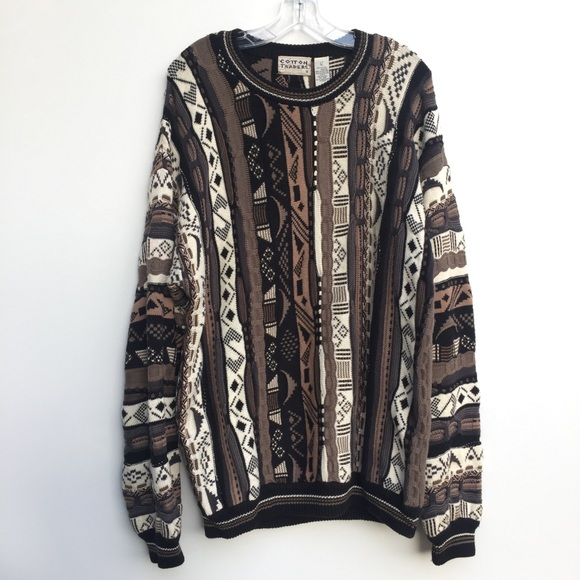 Vintage Other - Vintage Cotton Traders Pattern Knit Sweater XL